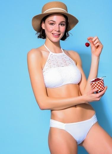 Loves You Transparan Bikini Takım Beyaz